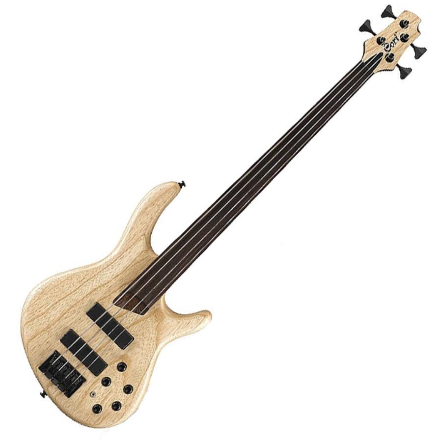 Cort - B4PlusFL-AS Artisan elektromos basszusgitár fretless natúr