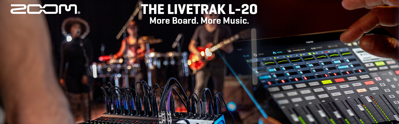 Zoom Livetrak digitalis keverőpultok