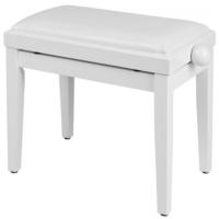 Soundsation - SBH-100P-WH fa zongorapad műbőr ülőfelülettel fényes fehér
