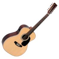 Sigma - JR12-1STE 12 húros akusztikus gitár elektronikával ajándék húrtisztító