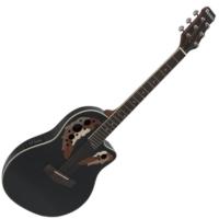 Dimavery - OV-500 Roundback Black akusztikus gitár elektronikával fekete ajándék puhatok