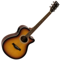 Dimavery - AW-400 Western gitár elektronikával sunburst ajándék puhatok
