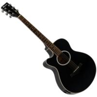 Dimavery - AW-400 Balkezes Western gitár elektronikával fekete ajándék puhatok