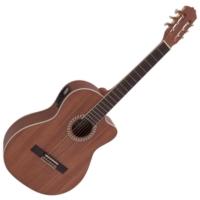 Dimavery - CN-300 Klasszikus gitár elektronikával mahagóni ajándék puhatok