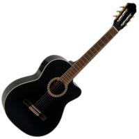 Dimavery - CN-600E Klasszikus gitár elektronikával fekete ajándék puhatok