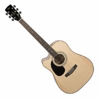 Cort - AD880CE-LH-NAT balkezes elektroakusztikus gitár ajándék puhatok