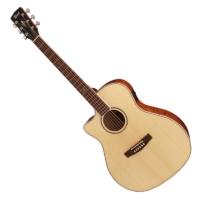 Cort - GA-FF-LH-NAT Balkezes akusztikus gitár elektronikával natúr ajándék puhatok
