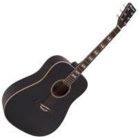 Dimavery - STW-40 Western gitár fekete ajándék puhatok