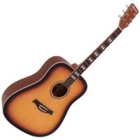 Dimavery - STW-40 Western gitár sunburst ajándék puhatok