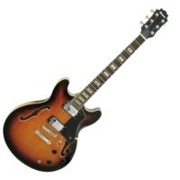 Dimavery - SA-610 Jazz gitár sunburst ajándék húrtisztító