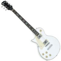 Dimavery - LP-700L balkezes elektromos gitár fehér ajándék puhatok