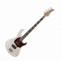 Cort - GB74-WBL elektromos basszusgitár szőkített fehér ajándék félkemény tok