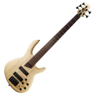 Cort - B5Plus-AS Artisan 5 húros elektromos basszusgitár natúr ajándék félkemény tok