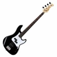 Cort - GB14PJ-BK elektromos basszusgitár fekete ajándék puhatok készletakció
