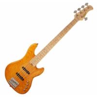 Cort - GB75JJ-AM 5 húros elektromos basszusgitár borostyán ajándék félkemény tok