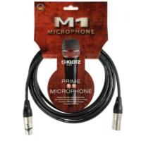 Klotz - mikrofonkábel 1 m Klotz XLR3M-XLR3F csatlakozók+MY206 fekete kábel