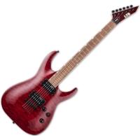 LTD - MH-200QMNT SEE THRU BLACK CHERRY 6 húros elektromos gitár ajándék félkemény tok