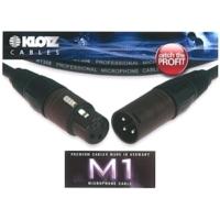 Klotz - mikrofonkábel, 10 m Klotz/(Neutrik XLR3M - XLR3F csatlakozók, + MY206 fekete kábel
