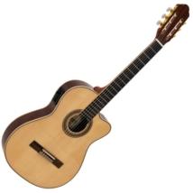 Dimavery - TB-100 klasszikus vékony gitár elektronikával natúr ajándék puhatok