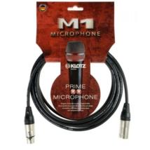 Klotz - mikrofonkábel 3 m Klotz XLR3M-XLR3F csatlakozók+MY206 fekete kábel