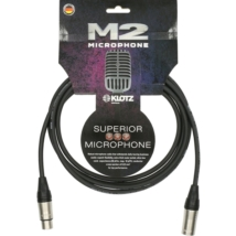 Klotz - mikrofonkábel 1 m Klotz XLR3M-XLR3F csatlakozók+MC2000 fekete kábel