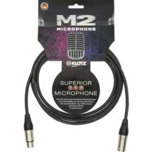 Klotz - mikrofonkábel 2 m Klotz XLR3M-XLR3F csatlakozók+MC2000 fekete kábel