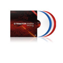 Native Instruments - Traktor Sctrach Vinyl MK2, Clear,Blue,White,Red