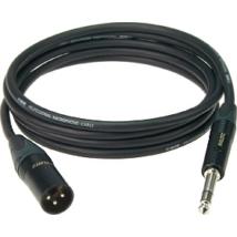 Klotz - XLR-JACK kábel, 1 m – Neutrik XLR3F - JACK3 csatlakozók + MY 206 fekete kábel