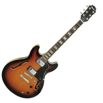 Dimavery - SA-610 Jazz gitár hordtáskával, sunburst színben