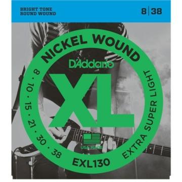 D'Addario - EXL130 Nickel Wound Extra Super Light 8-38 elektromos gitár húr