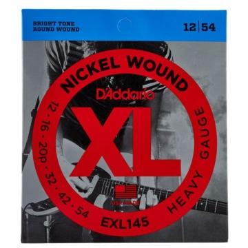 D'Addario - EXL145 Nickel Wound Heavy Gauge 12-54 elektromos gitárhúr