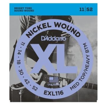 D'Addario - EXL116 Nickel Wound Med Top/Heavy Btm 11-52 elektromos gitárhúr