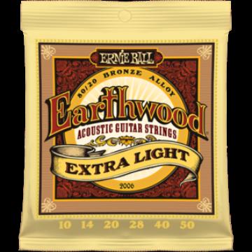 Ernie Ball - Earthwood Bronze Extra Light 10-50 Akusztikus Gitárhúr készlet