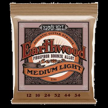 Ernie Ball - Earthwood Phosphor Bronze Medium Light 12-54 Akusztikus Gitárhúr készlet