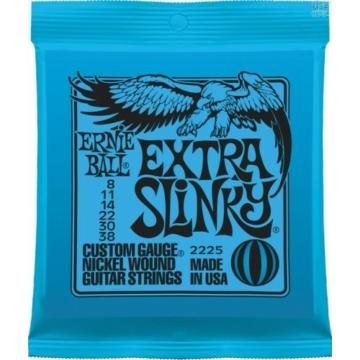 Ernie Ball - Nickel Wound Extra Slinky 8-38 Elektromos Gitárhúr készlet