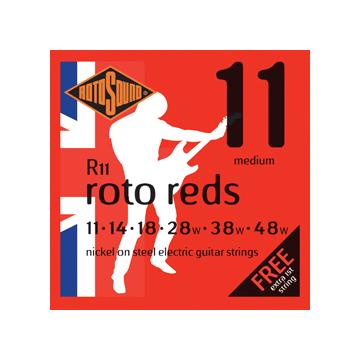 Rotosound - R11 Roto Reds medium elektromos gitárhúr készlet 11-48
