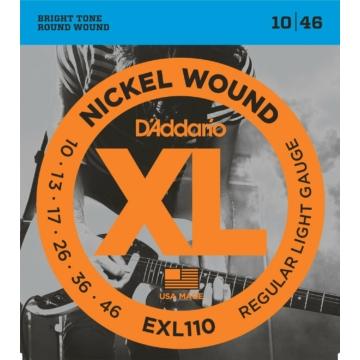 D'Addario EXL110 Nickel Wound Regular Light 10-46 elektromos gitárhúr