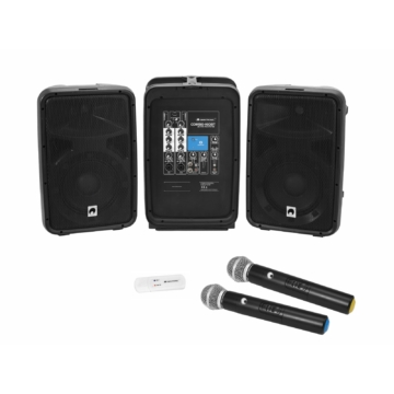 OMNITRONIC - Set COMBO 160BT active PA system + UWM-2HH USB Wireless mic set