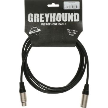 Klotz - mikrofonkábel 2 m Klotz XLR3M-XLR3F csatlakozók+GreyHound fekete kábel