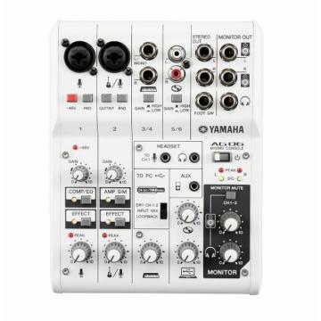 Yamaha - AG06 6-csatornás analóg keverő és USB audio interface