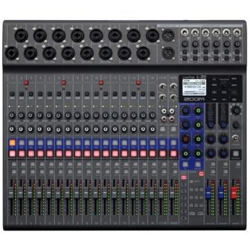 Zoom - LiveTrak L-20 digitális keverő és többsávos hangfelvevő, szemből