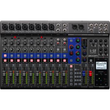 Zoom - LiveTrak L-12 digitális keverő és többsávos hangfelvevő, szemből