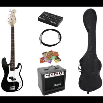 DIMAVERY - BGS-10B E-Bass-Set, black