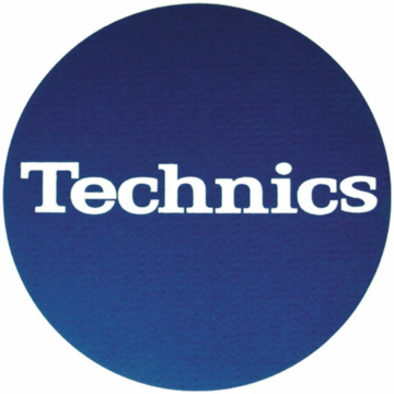 Technics - Slipmats Technics Logo blue