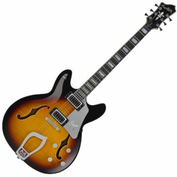 Hagstrom - Super Viking Tobacco Sunburst Elektromos jazz gitár