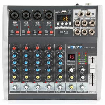 Vonyx - VMM-K602 6 Csatornás zenekari keverő