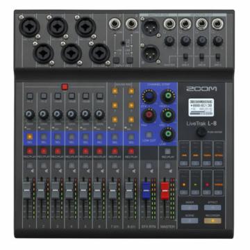Zoom - LIVETRAK L-8 Digitális keverő és többsávos felvevő