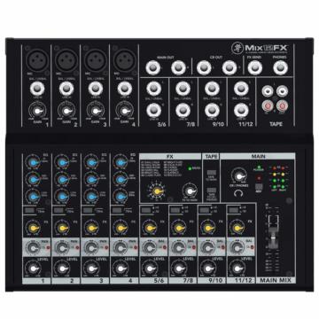 Mackie - MIX12FX 12 csatornás kompakt effektes keverő