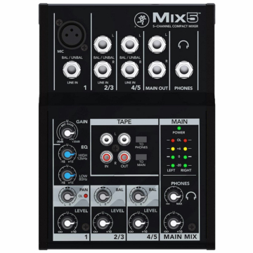 Mackie - MIX5 5 csatornás kompakt keverő