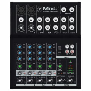 Mackie - MIX8 8 csatornás kompakt keverő